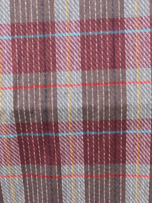 brown check tartan fabric wool mix 150cm 60 inches wide suiting, pants skirt fabric