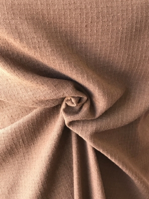 light brown taupe pebble crepe boucle fabric polyester wool mix