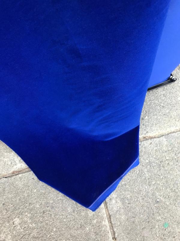Cobalt blue cotton velvet fabric, premium quality by Niedick 150cm wide velvet coating