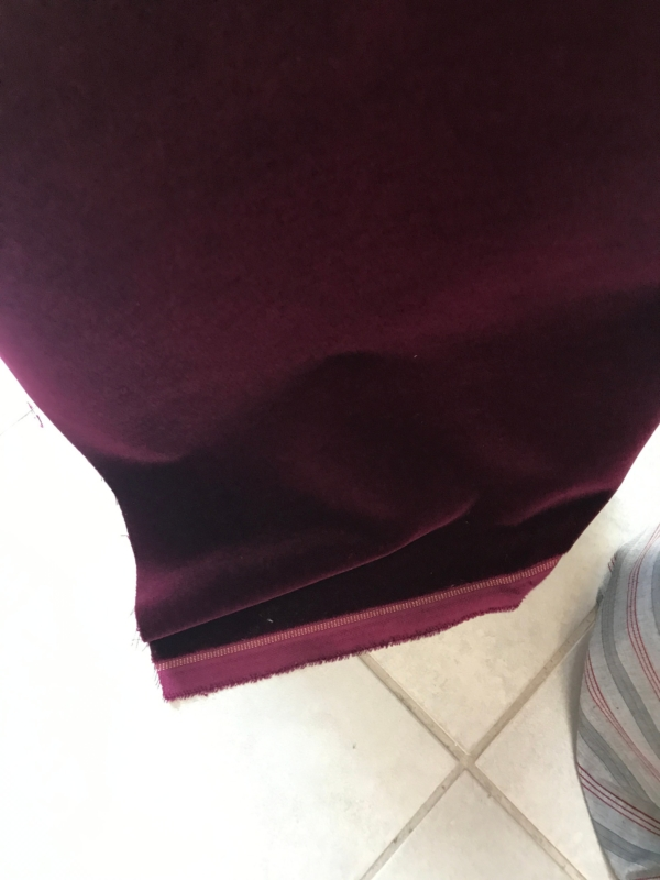Burgundy purple cotton velvet fabric, premium quality by Niedick 150cm wide velvet coating