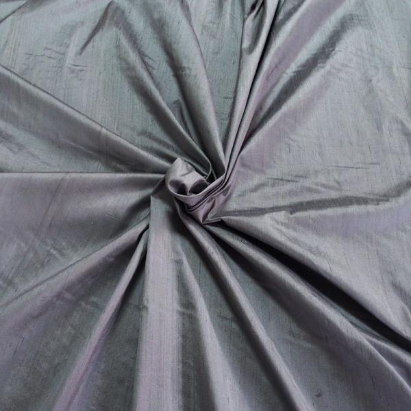 Grey dupioni silk