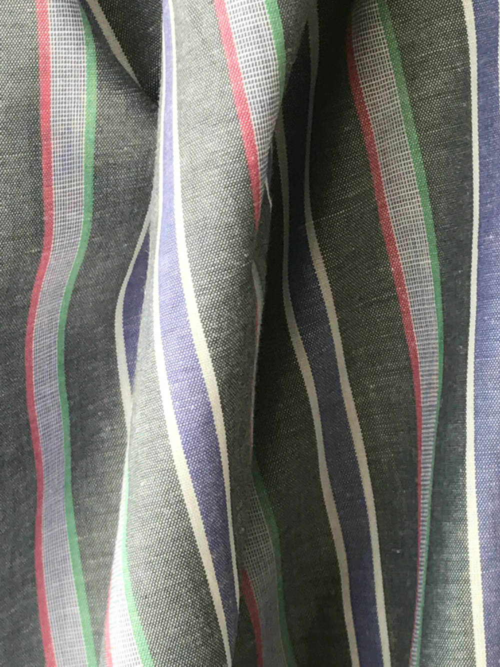 striped cotton shirt fabric shirting 100% cotton grey with pink 150cm wide