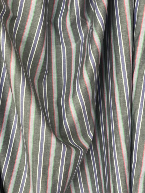 striped cotton shirt fabric