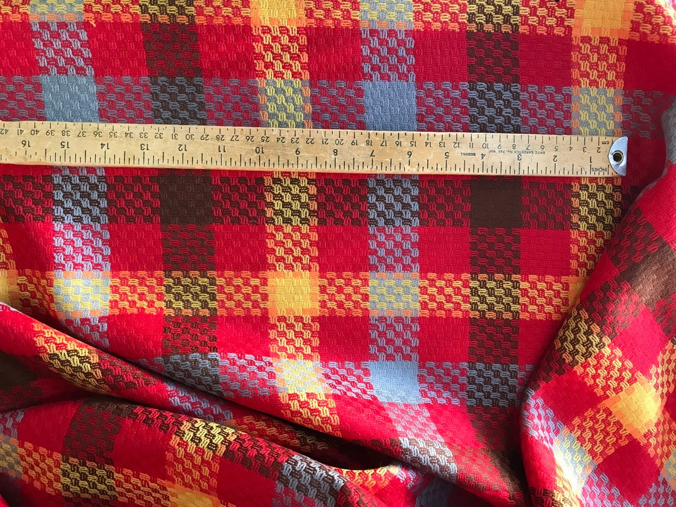 red check wool fabric multi colour large check pattern suiting skirt coat fabric pure wool 150cm wide