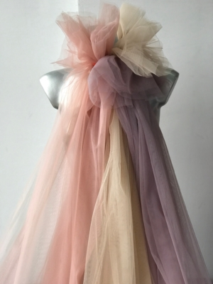 """powder pink blush pink nude very soft Tulle mesh net fabric for skirt frills soft 3m 118"""" wide"""