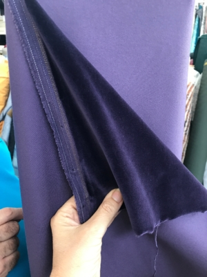 purple cotton velvet fabric, bridal, premium quality by Niedick 150cm wide velvet coating