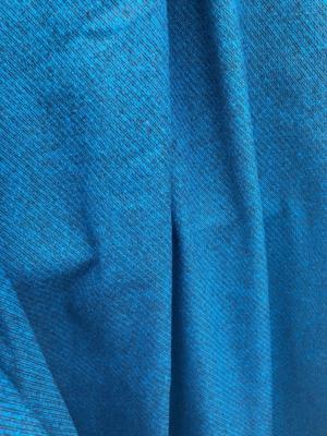 teal blue on black wool mix fabric diagonal stripe pattern