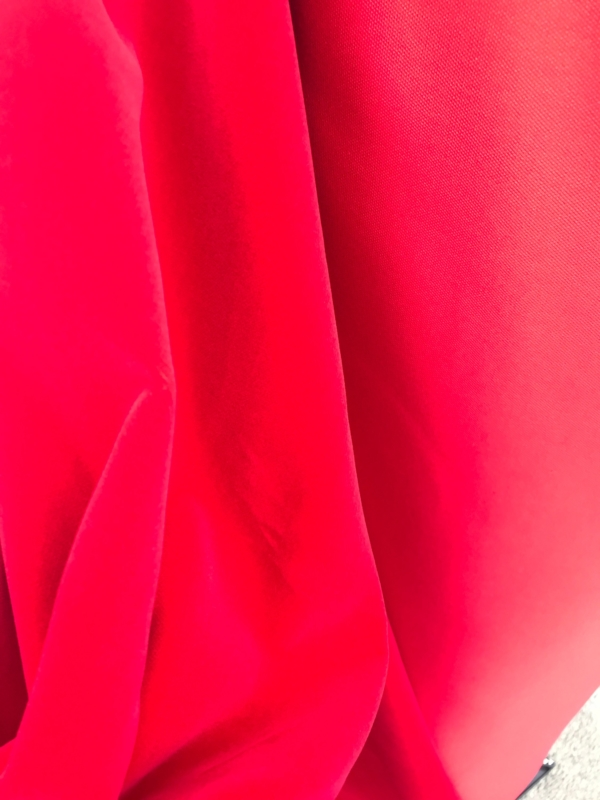 Red cotton velvet fabric, premium quality by Niedick 150cm wide velvet coating
