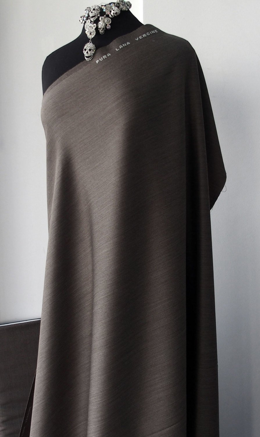 brown wool suiting fabric