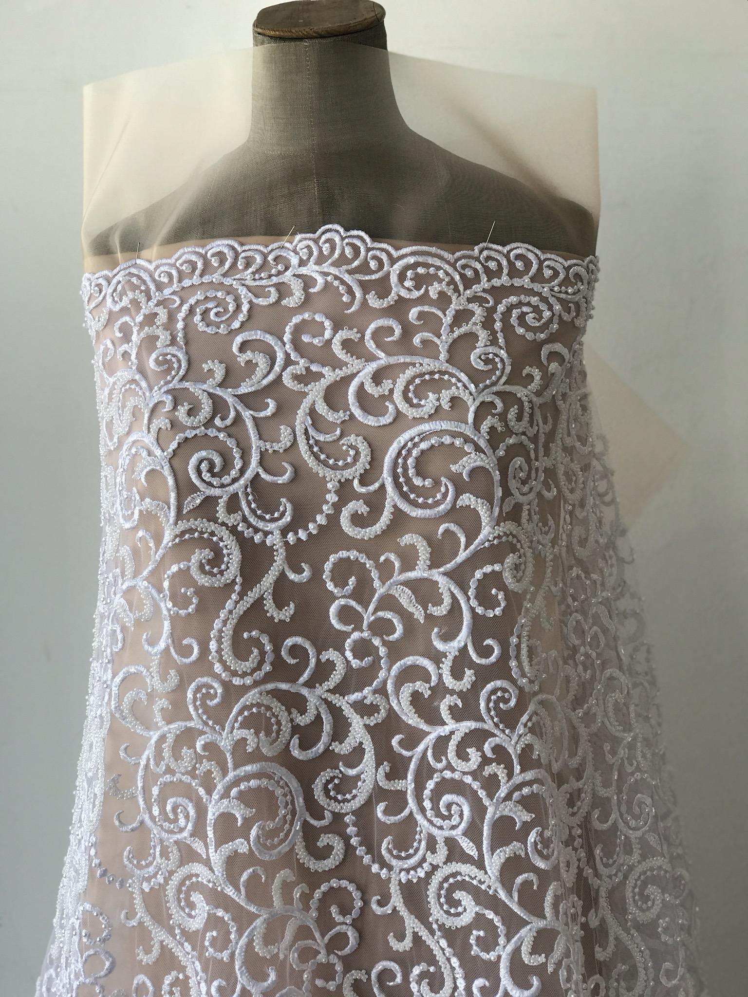 beaded bridal lace