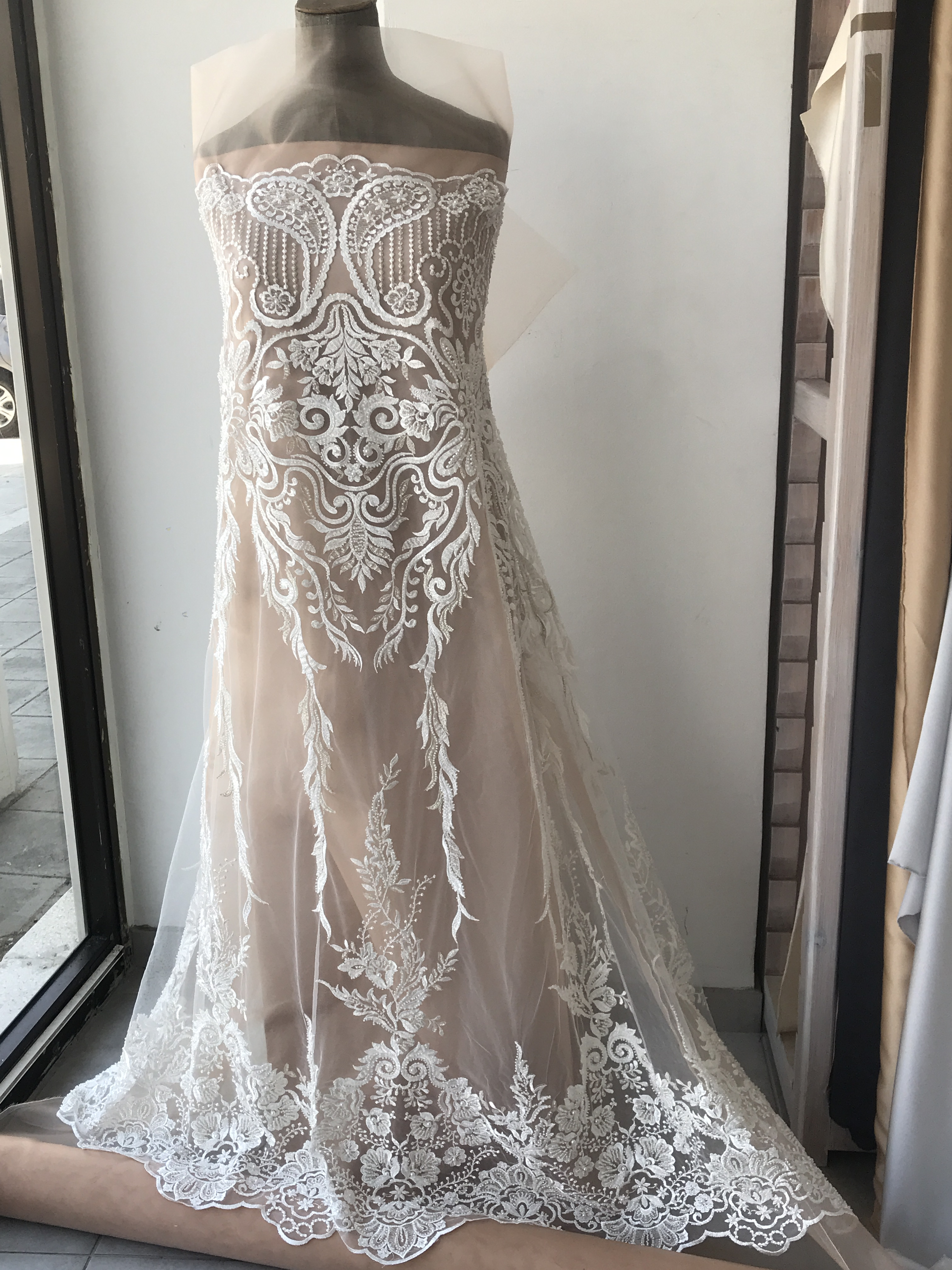 bridal beaded lace