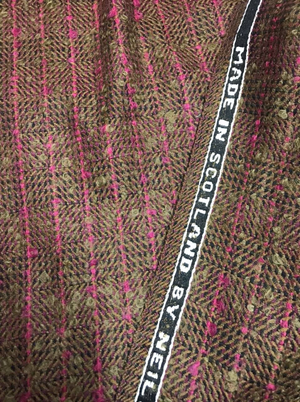 Wool tweed coating fabric
