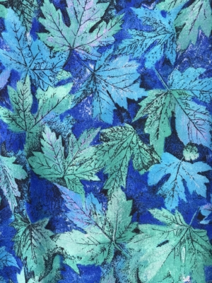 green blue wool print