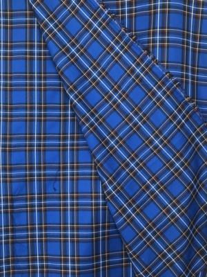 royal blue check fabric