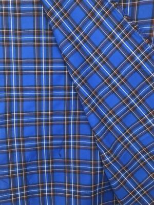 royal blue tartan fabric