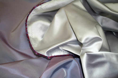 silver duchess satin