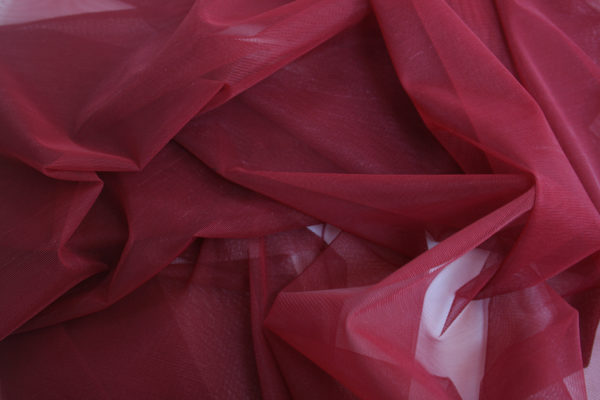 red stretch tulle