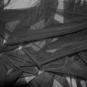 black stretch tulle fabric