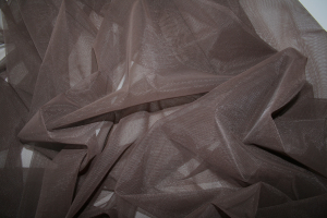 brown stretch tulle fabric