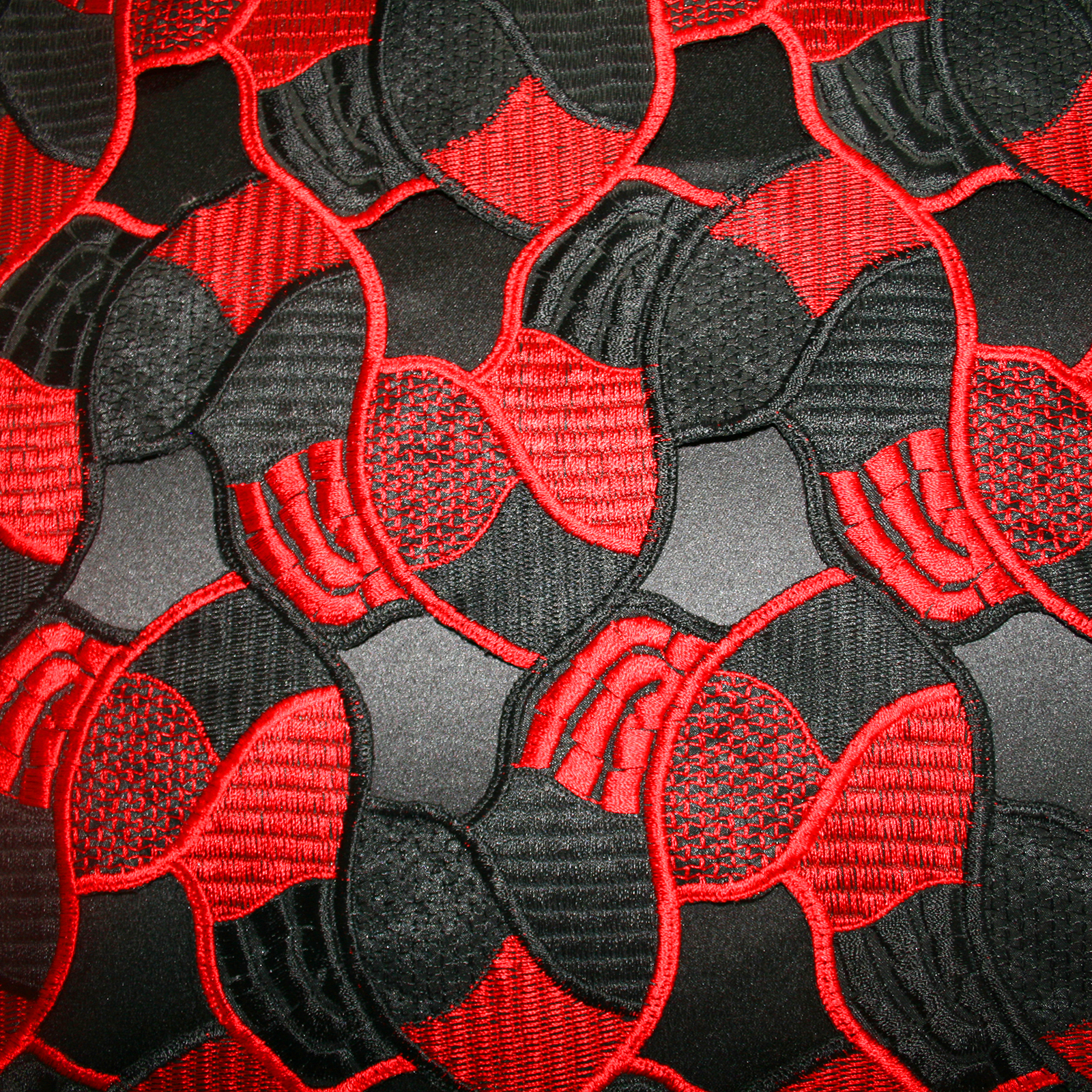 Red Black Fabric