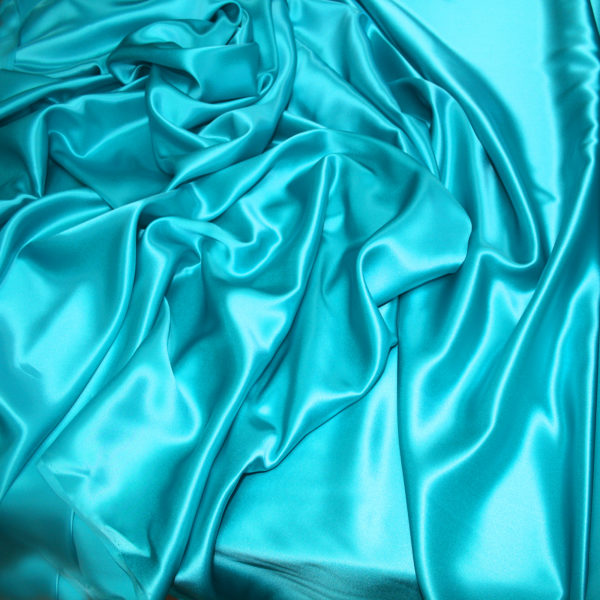 turquoise silk satin