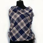 navy blue tartan fabric