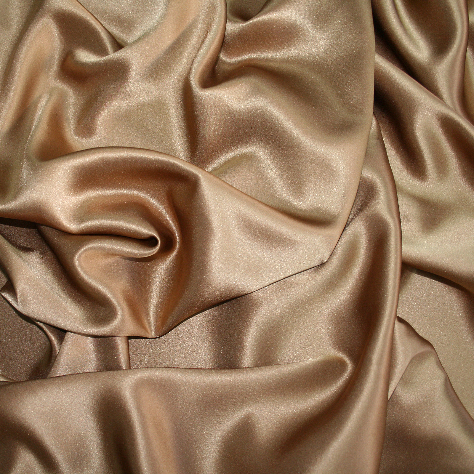 Golden beige russet silk satin fabric high quality for Satin fabric