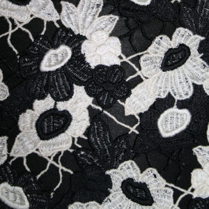 black and white guipure lace