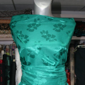 green jacquard brocade