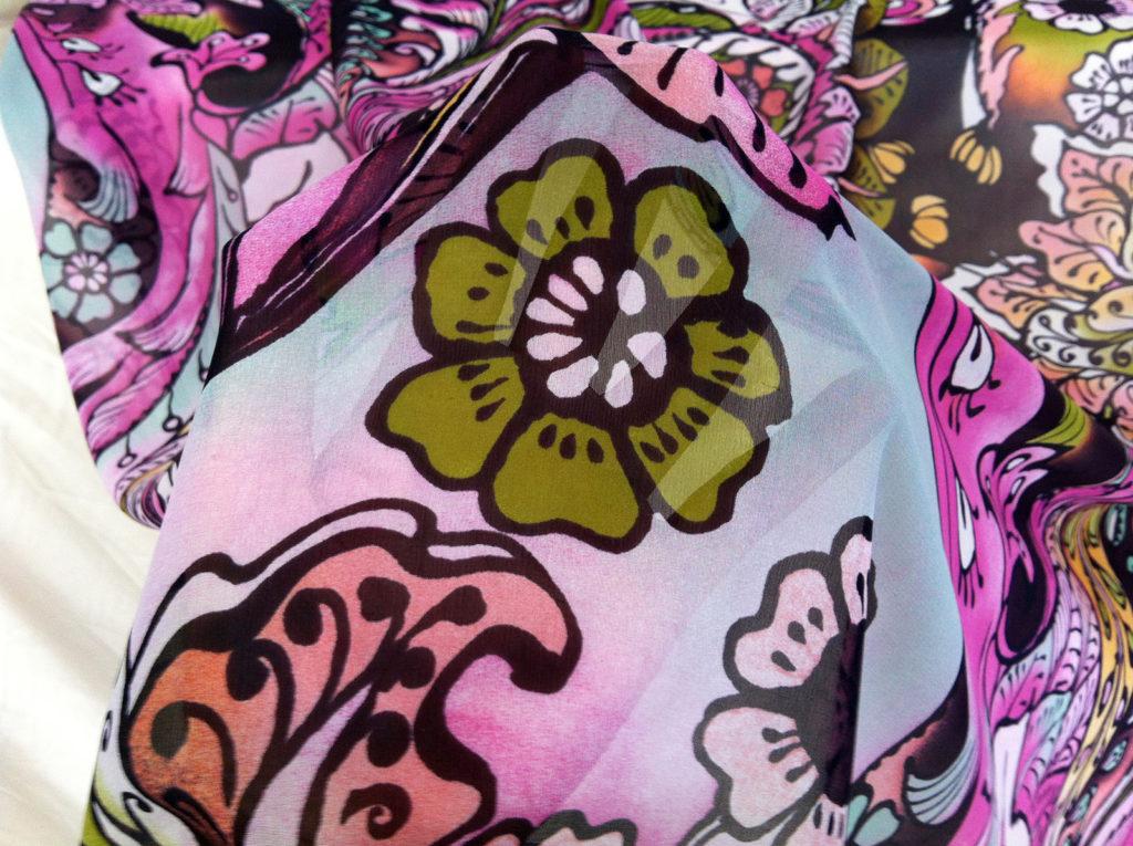 silk chiffon print