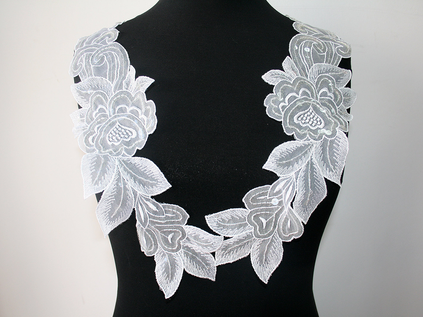 Amazon iron on patches white flower patch pcs iron on