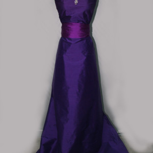 Image result for DARK PURPLE DUPION GOWN