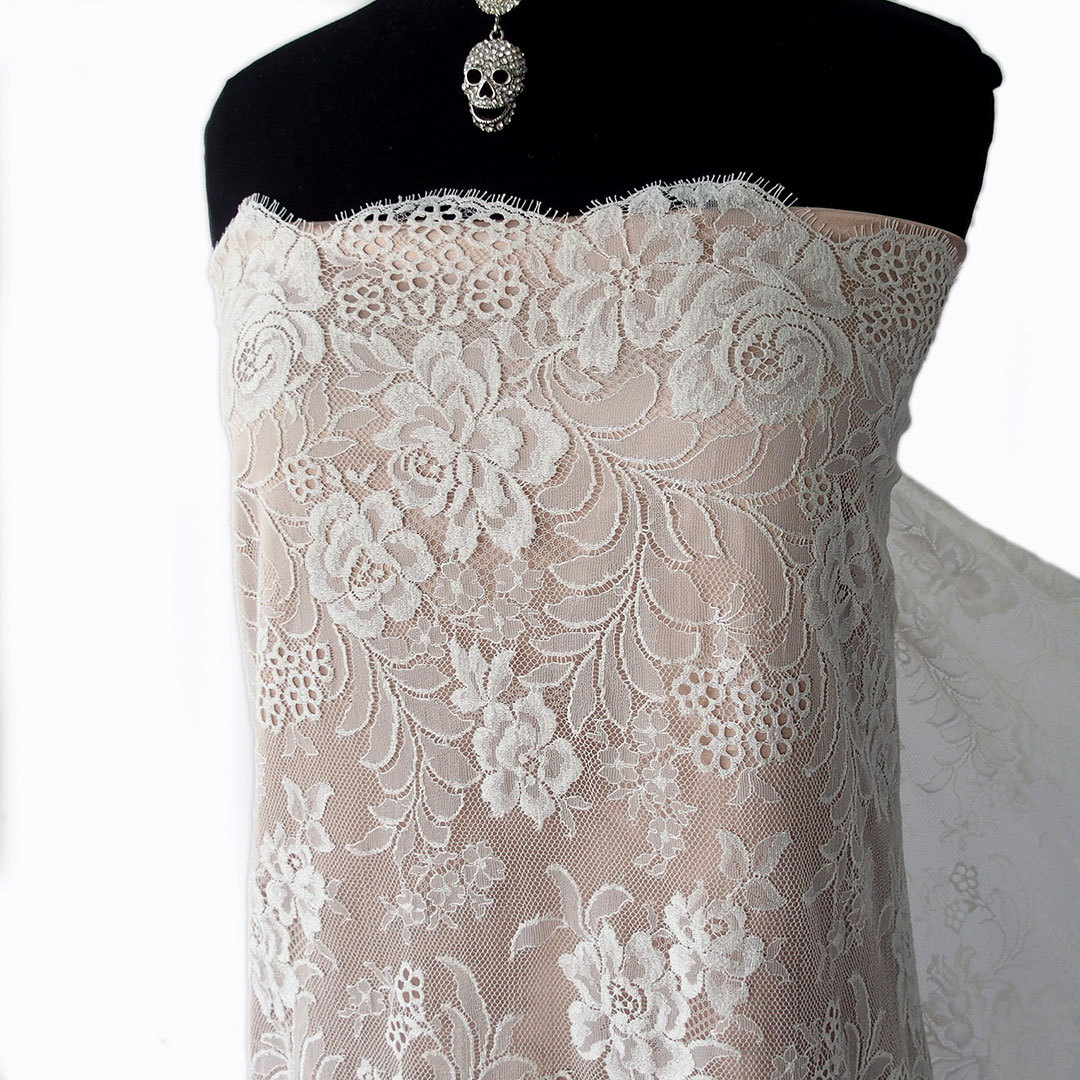 ... Wedding Dress Lace Scallop Edging With Eyelash Lace 95cm Wide. ; 