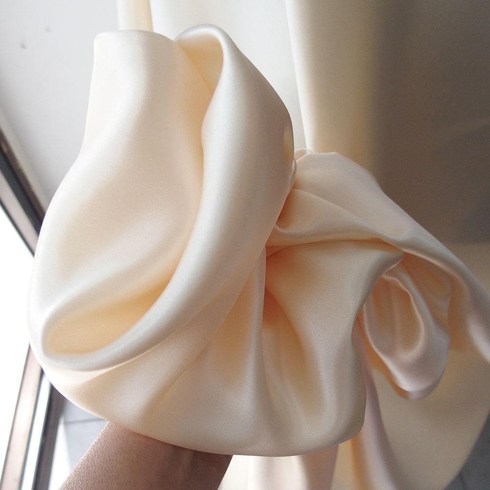 ivory cream silk satin fabric
