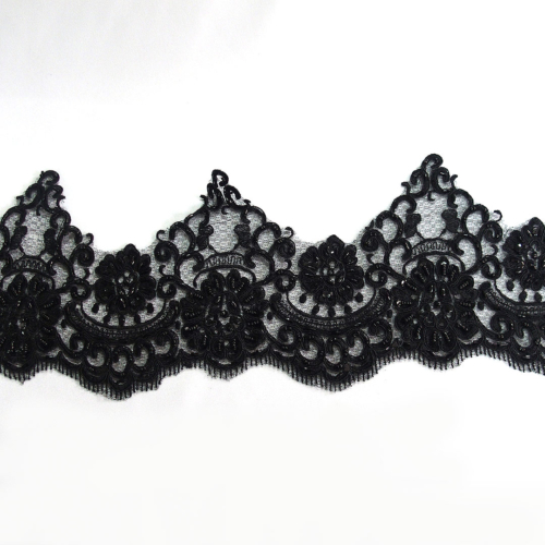 beaded border lace