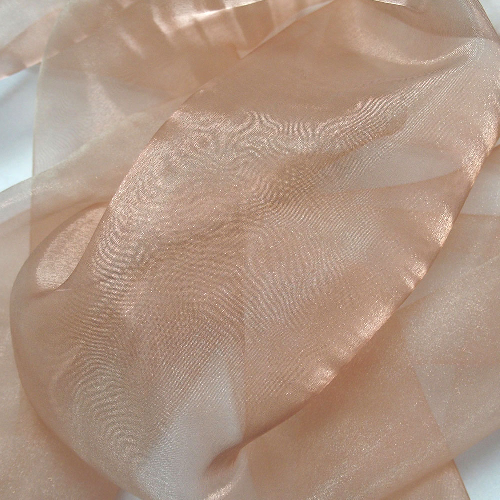 beige organza fabric