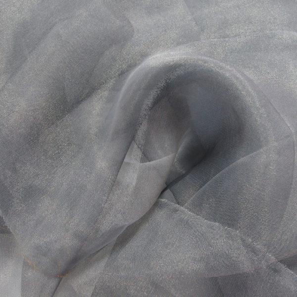 grey organza fabric