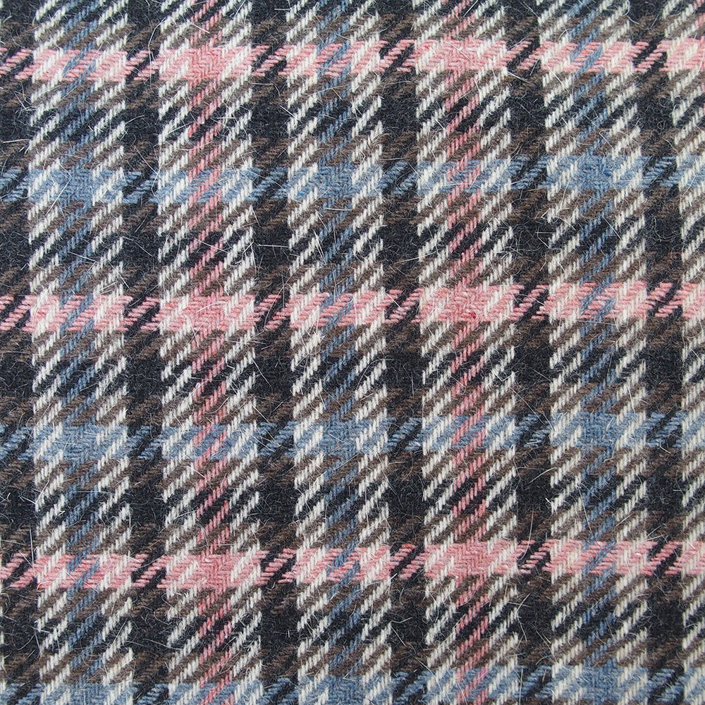 wool mohair check tartan fabric pink grey ecru high ...