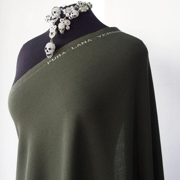 green wool crepe