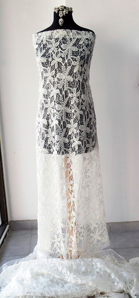 wool lace fabric bridal