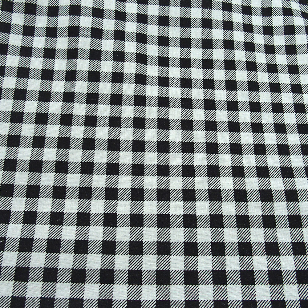 Black And White Check Cotton Fabric 100 Percent Cotton Bodikian Textiles