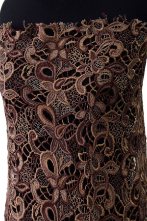brown guipure lace