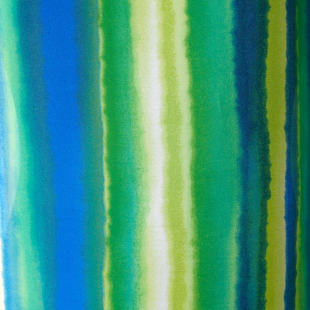 Stripe silk chiffon fabric royal blue green lime rainbow for Lime and blue