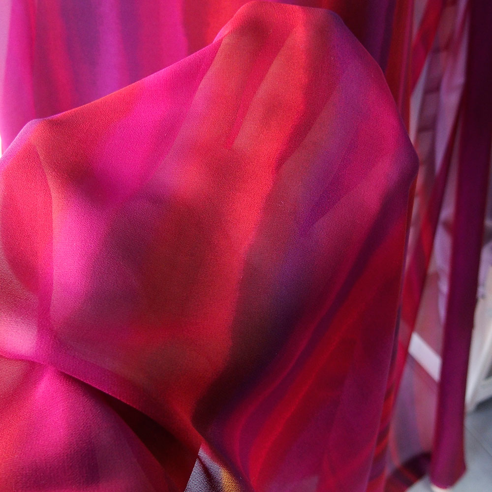 stripe silk chiffon