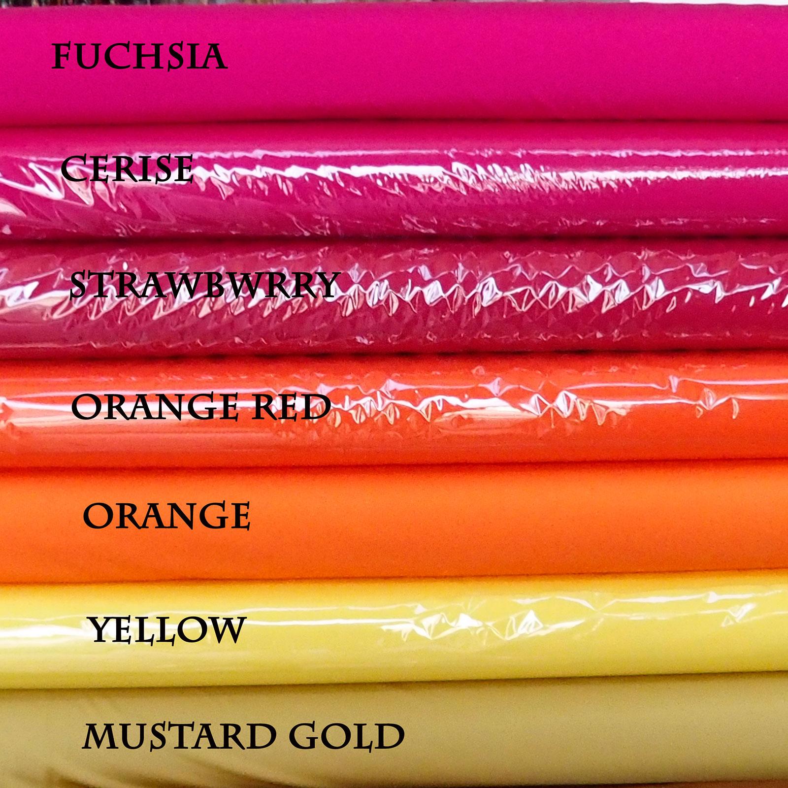 Lycra Spandex fabric colour shade card gold yellow orange fuchsia