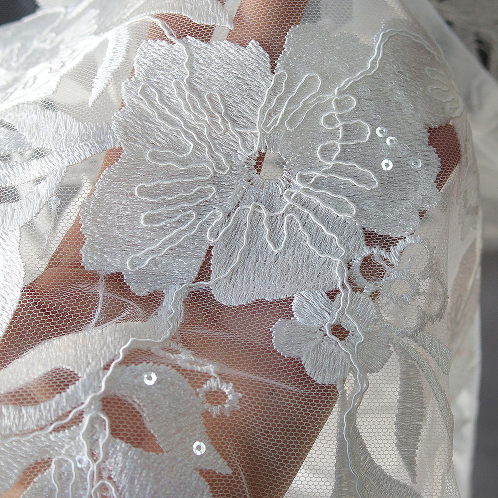 bridal lace with sequins
