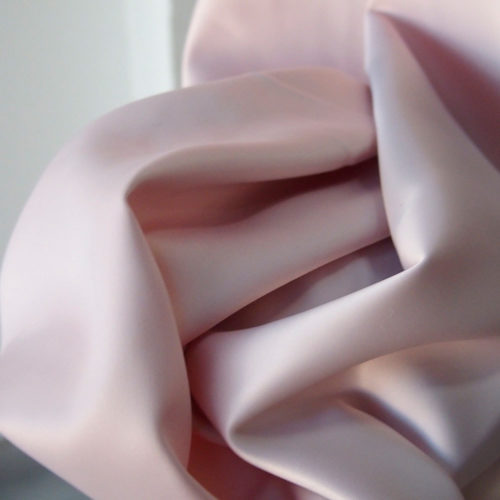 pink stretch satin