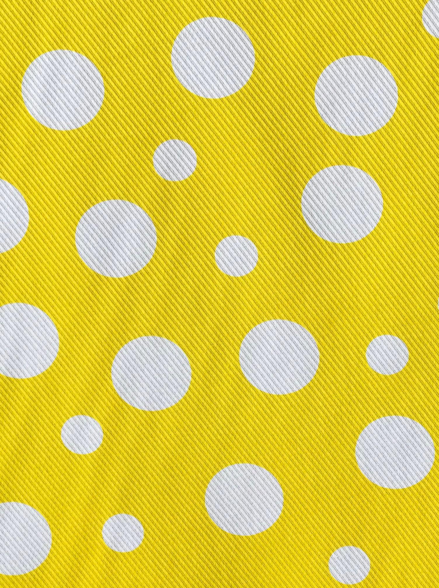 cotton pique spots fabric