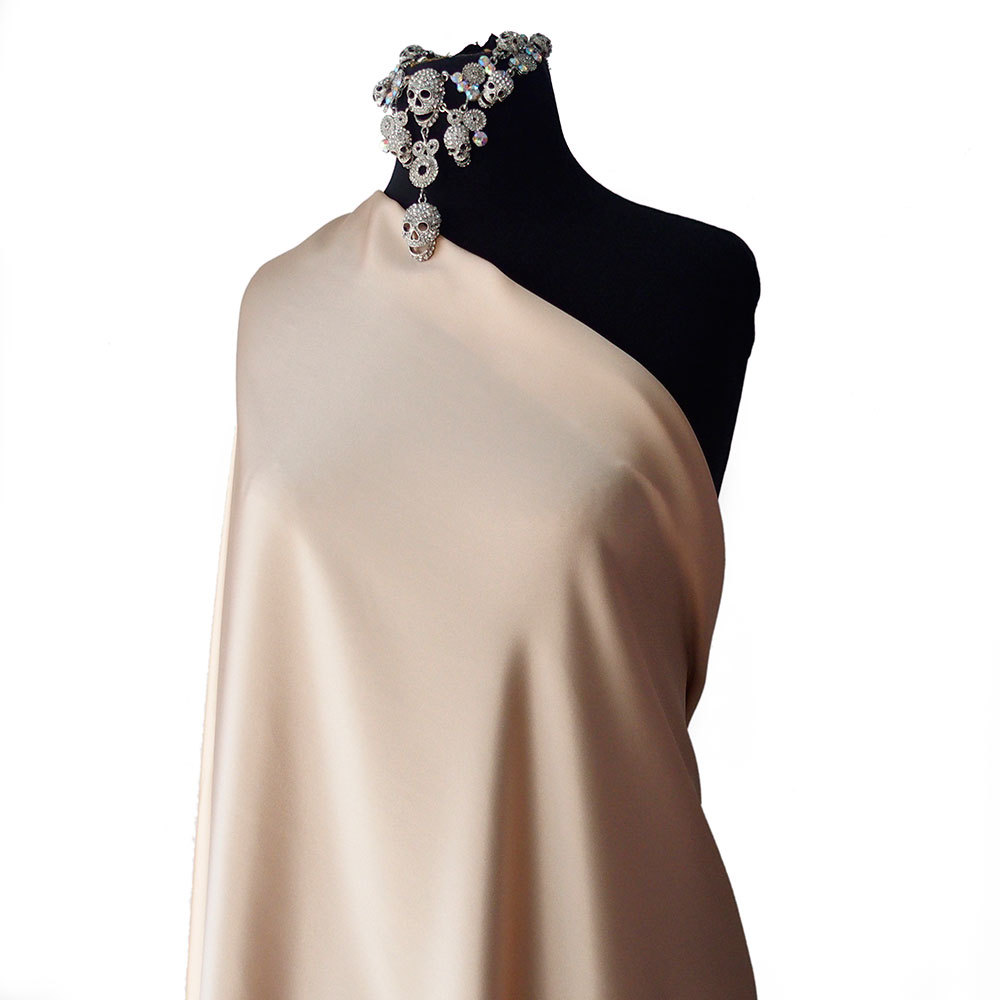 beige silk satin