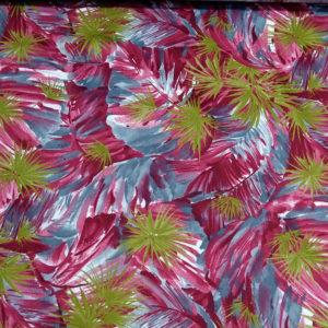 cotton tropical print